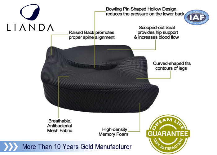Coccyx Comfort Memory Foam Seat Cushion Reliving Back And Tailbone Pain For Car And Office